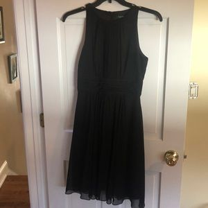 Ralph Lauren Black Chiffon Dress
